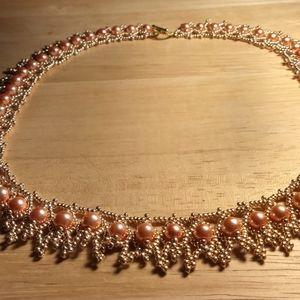 Jewelry - 20 inch glass beaded necklace